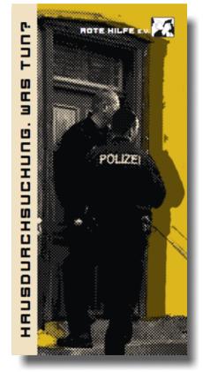 Flyer: Hausdurchsuchung