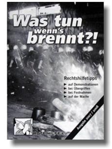 Broschüre: Was tun wenns brennt